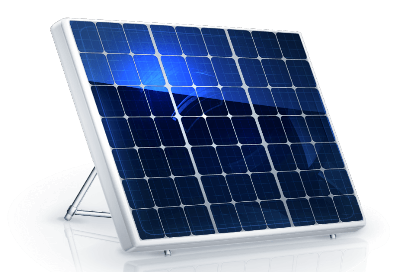 Digital Rendering of a Solar Panel